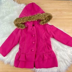 Dollhouse Outwear Toddler Girl's 2T Hooded Coat